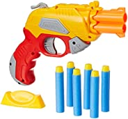 Amazon Brand - Jam & Honey Fire Blaster Toy Gun, Yellow, with Soft Foam Bullets and Target b