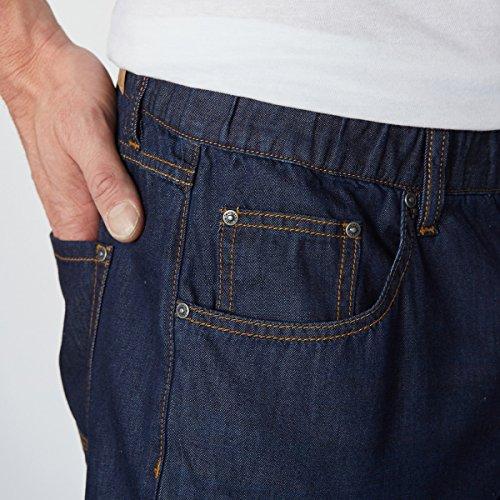 Castaluna For Men Mann Leichte Jeans, Fivepocketform dark blue bossed