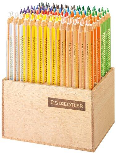 Staedtler 1284 DS - Tricki Dicki Farbstift mit Holz-Display, 4 mm, 112 Stück, sortiert