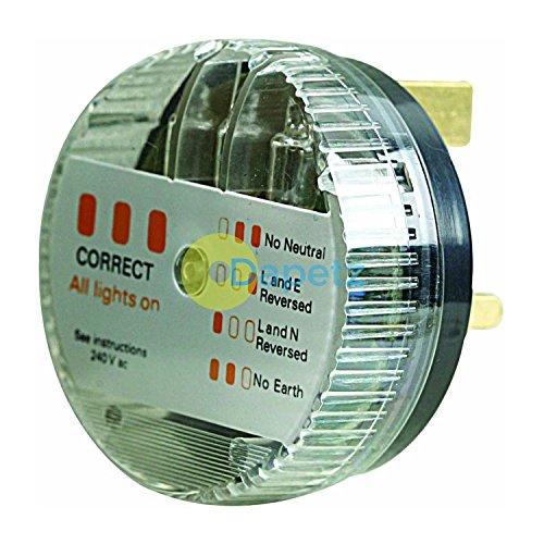 Daptez Nuovo 783103 Elettrico Principali Plug-In Connettore Tester 240V Potenza Attivo Terra