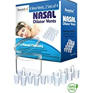 Snoring Aid - Nasal Dilator x 8 Anti Snoring Devices | Supports Sleep Apnea and Best Aids Breathing | Premium Nose Vents and Snore Stoppers | Nasal Dilators for Nasal Congestion and a Deviated Septum