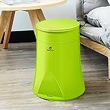 Die besten Amazon Badezimmer Abfalleimer - LSHWHT HWH Kunststoff Mülleimer, Halbautomatische Wechsel Taschen Mülleimer Bewertungen