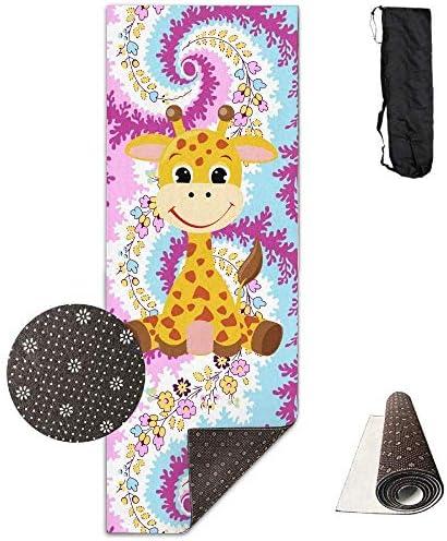 Vercxy, Tappetino da Yoga con Illustrazione di Una Piccola Giraffa, Giraffa, Giraffa, Tappetino da Yoga avanzato, Fodera Antiscivolo, Facile da Pulire, Senza Lattice, Leggero e Resistente, 180 x 61 cm B07K7KFBB5 Parent   In Linea Outlet Store    Abile Fabbricazione    De 0fc4a1
