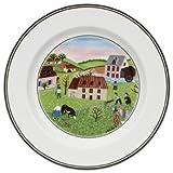 Villeroy & Boch 10-2337-2663 Design Naif Brotteller Mühle, 17 cm, Porzellan mit verspielt wirkendem Dekor