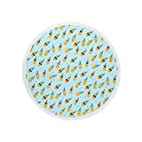Covers & Co Hamam Strandlaken Pineapple Aqua Rund Ananas Liegetuch 150 cm