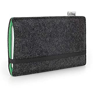 Stilbag Handyhülle Finn für Apple iPhone XS | Farbe: anthrazit/Mint | Smartphone-Tasche aus Filz | Handy Schutzhülle | Handytasche Made in Germany