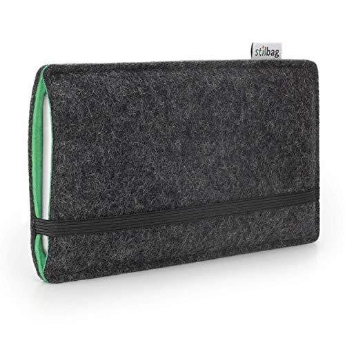 Stilbag Handyhülle Finn für Apple iPhone Xr | Farbe: anthrazit/Mint | Smartphone-Tasche aus Filz | Handy Schutzhülle | Handytasche Made in Germany