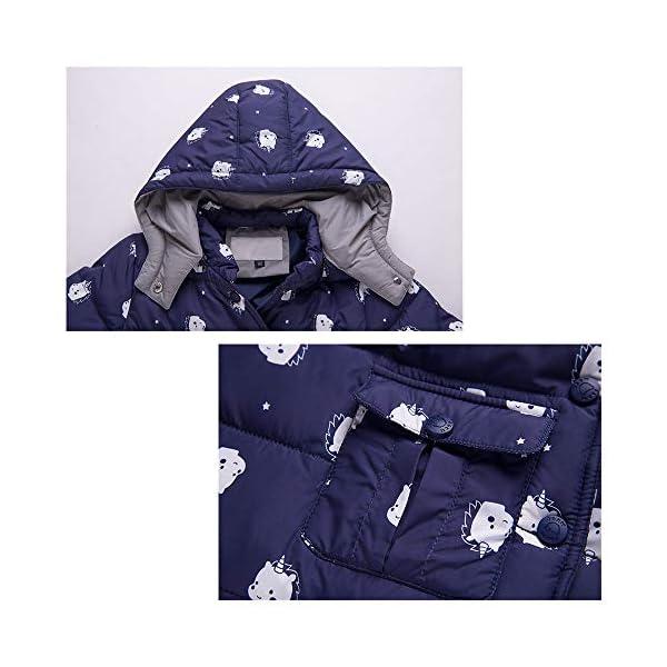 Trajes de esquí para Niños, 2 Piezas Unisexo Chaqueta de Pluma + Pantalones de Nieve Invierno Ropa 3