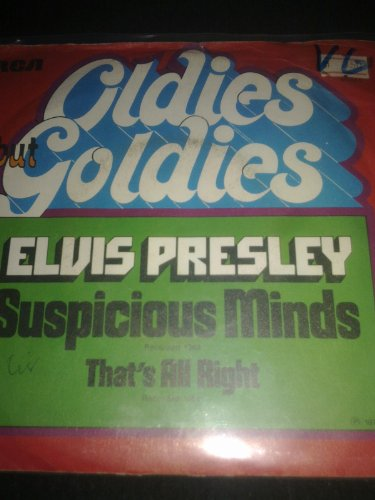 suspicious minds / funny how time slips away 45 rpm single