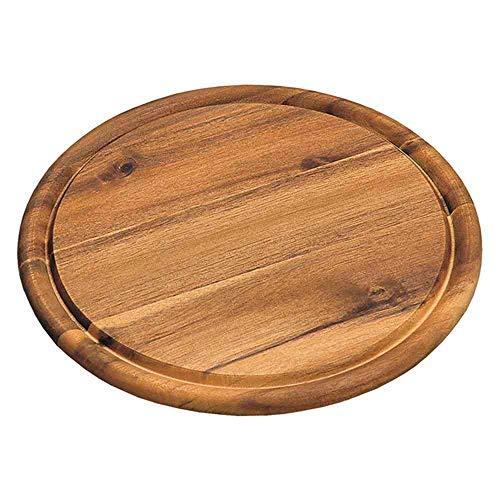 10er SET KESPER 28444 Fleischteller Ø 30 cm aus FSC®-zertifiziertem Akazienholz / Holzteller / Pizzateller / Schneidebrett