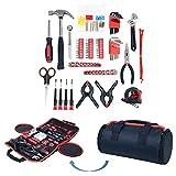 Haushalt Werkzeug Set , 86-teiliges mit Rolltasche, Trimate(Hammer, Schlüssel Set, Schraubendreher, Zange) – tolle für das Haus oder Auto
