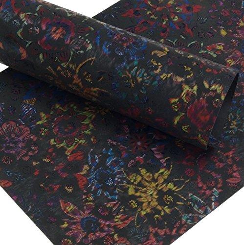 Klassen Leder AIX Rindsleder 2,5 mm Dick Flower Design Nubuk 191 (297 x 420 mm, 1 x A3)