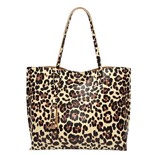 Produp Mode Mode Frauen Leder Quaste Hasp Tiger Muster Umhängetasche Handtasche ToteSchoolbag Rucksack Umhängetasche -