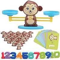 Lispeed Balance - Balanza Digital de iluminación de Mono, Juguete de Aprendizaje, complemento Digital