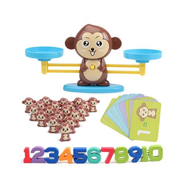 Ahagut Matemática Escalas Juguetes Monos balanza Juguetes Escalas Animales matemática Juguetes educativos Habilidades Juguetes educativos Juguetes para niños 1