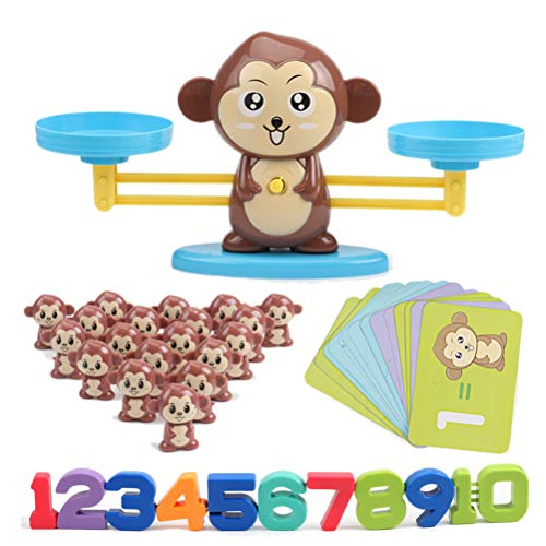 EisEyen AFFE Digitalwaage Waage Spielzeug Früherziehung Balance Kinder Aufklärung Digitale Addition und Subtraktion Math Scales Toys