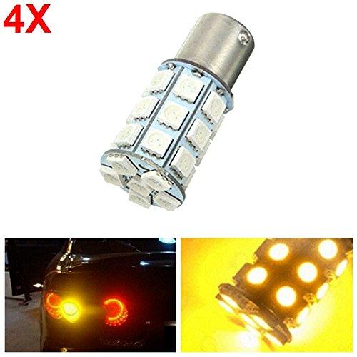 4pcs-21-w-5050-27smd-led-auto-turn-signal-light-tail-lamp-reverse-bulb-yellow-12-v