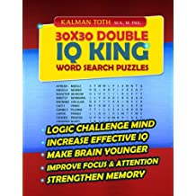 30x30 Double IQ KING Word Search Puzzles (English Edition)