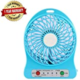 #9: Arnix Mini Portable USB Rechargeable 3-Mode Fan (Color Vary)