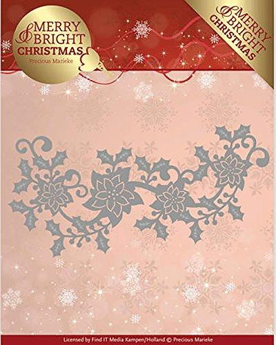 Find It Stanzschablone - Precious Marieke - Merry and Bright Christmas - Weihnachtsstern Bordüre