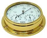 Tabic Messing mit integriertem Hygrometer und Thermometer, Barometer, schwere Lacquered Messing 1/2kg Segeln Yacht Boot Marine-Uhr, hergestellt in England