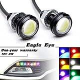 Luci LED 'Eagle Eye' ad alta potenza, da 3W, con vite, per auto e moto, adatte come luci di retromarcia, luci LED di marcia diurna, luci di posizione
