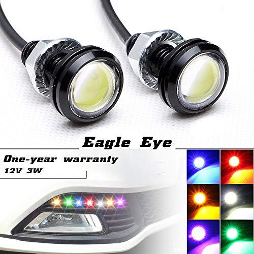Luci LED 'Eagle Eye' ad alta potenza, da 3W, con vite, per auto e moto, adatte come luci di retromarcia, luci LED di marcia diurna, luci di posizio