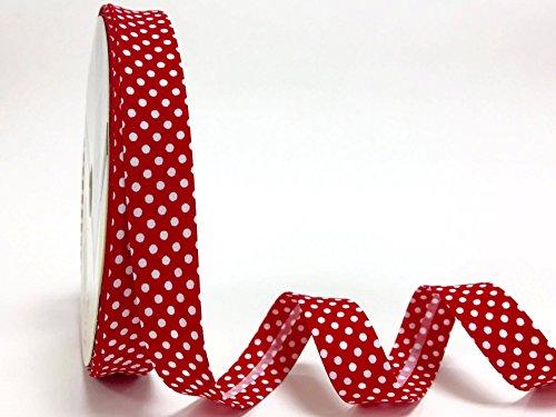 Rojo de lunares 18 mm de satén de Fany en relieve de mujer con 3 m de longitud (N.B, se trata de un corte de rollo de)