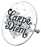 Badewannenstöpsel Carpe Diem, deckt den kompletten Abflussbereich ab, hochwertige Qualität ✶✶✶✶✶