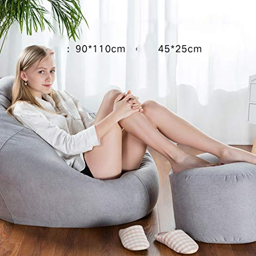 KTYXGKL Sojabeutel-Liege, abnehmbare und waschbare Persönlichkeit, Lounge-Player-Sessel Faule Couch (Color : Gray) -