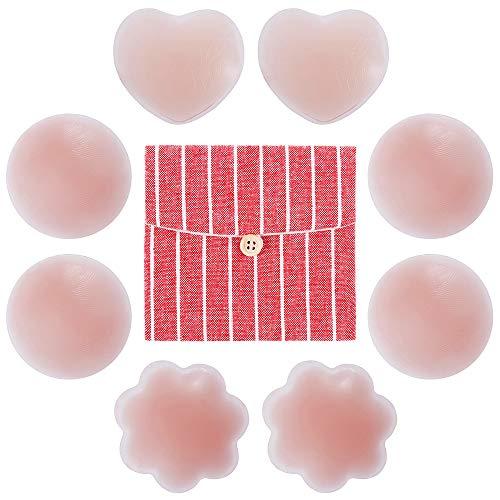 f013adf272d Rovtop 4 Paia Copricapezzoli Silicone - Regali  Sacchetto di  Immagazzinaggio di Cotone