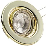 SONDERAKTION Decken Einbauleuchten DECORA; 230V; 1er Set inkl. COB LED 5W = 50W; Warm-Weiß; GOLD MESSING; schwenkbar, Einbauspot Spot Einbaustrahler Metall