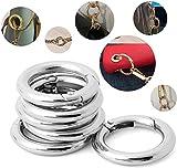 Unbekannt Simply The 28mm Durchmesser ~ Silber rund Karabiner Clips ~ Kleine Schlüsselanhänger Kette Spring Snap Haken Schnalle, Silber, S