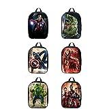 Mochila Hulk De Dibujos Animados/Mochila Iron Man De Dibujos Animados Mochila Para Niños/Capitán América,D-30 * 22 * 8cm