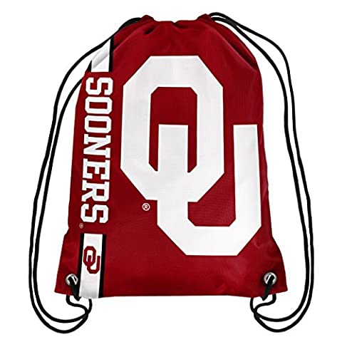 Forever Collectibles Unisex Big Logo Oklahoma 2015 Drawstring Backpack, Oklahoma Sooners, 18