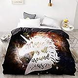 BEDSETAAA 3D Hd Printing Benutzerdefinierte Bettbezug, Kinder Kind Baby Quilt/Decke Fall, Königin Cartoon Bettwäsche, Bettwäsche Cute Stars 260x220cm B37