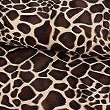 SCHÖNER LEBEN. Velours Fellimitat Kunstfell Giraffe beige