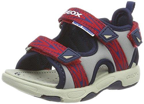 Geox b multy b, sandali a punta aperta bimbo, grigio (lt grey/navy), 22 eu