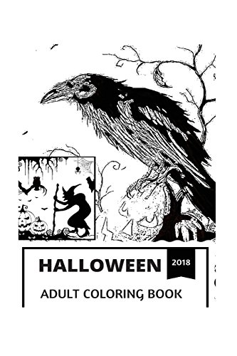 Halloween Adult Coloring Book: Jack-o-Lanterns and Horror Atmosphere, Haunted Houses and Scary Stories, Macabre Inspired Adult Coloring Book (Halloween Books)