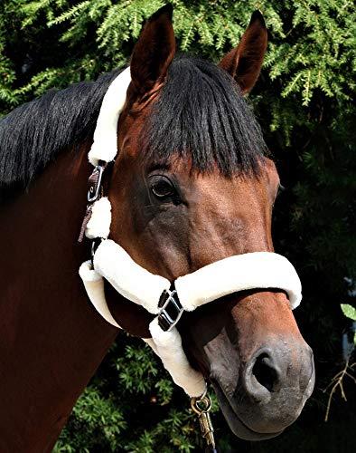 USG Halfter Fluffy, mit Kunstfell, braun/beige, Pony
