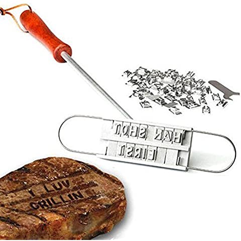 XuMarket(TM) BBQ Barbeque Branding Iron Tools Set + Changeable Letters Meat Steak Burger DIY Barbecue by Xu