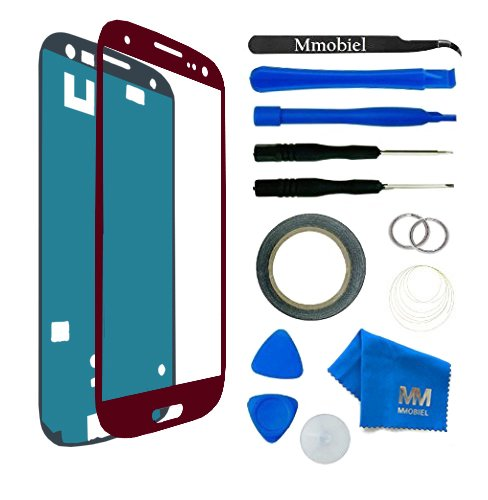 MMOBIEL Kit de Reemplazo de Pantalla Táctil para Samsung Galaxy S3 i9300 i9305 / S3 Neo i9301 Series (Rojo) Incl Kit de Herramientas/Pinzas / Cinta Adhesiva/Limpiador / Alambre/Manual