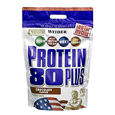 Weider Protein 80 Plus Lean Muscle Mass Gain Powdered Shake from Weider