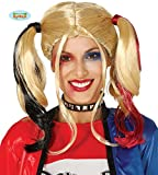 Guirca Perruque Femme Adulte Harley Quinn, Couleur Blonde, 4389
