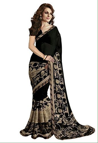 Desney Fashion Bhagalpuri Saree With Blouse Piece (Osl-Bhadko Black_Multi-Coloured_Free Size)