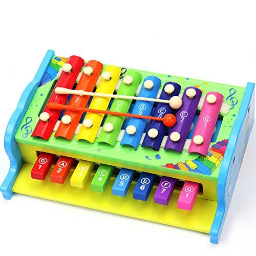 Rclhh Xylophone 8-Notes Clavier Instrument de Musique en Bois 2 en 1 frappant Xylophone Instruments pour la Petite enfance Img 2 Zoom