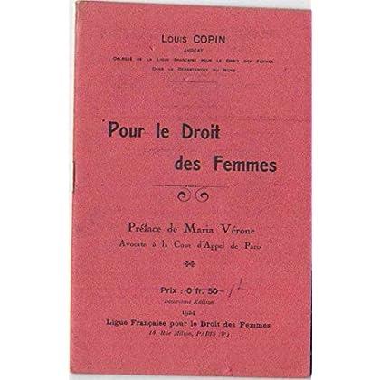 Pour le Droit des Femmes - Ma campagne dans le Réveil du Nord (Septembre 1919) - 2ème édition