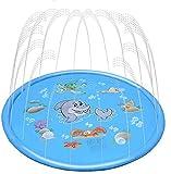 Addmluck Splash Pad Wasserspielzeug Garten Spielmatte Outdoor Sommer Garten Splash Spielmatte für Baby Party Sprinkler und Splash Play Matte 150CM Spaß für Baby, Kinder, Hund und Haustiere