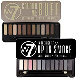 W7 Colour Me Buff & Up in Smoke Lidschatten Palette