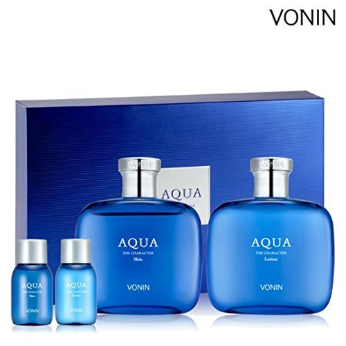 db7fcb8e480f9 VONIN THE CHARACTER AQUA Skin Lotion Set Made in Korea Cosmetic by JunyShop